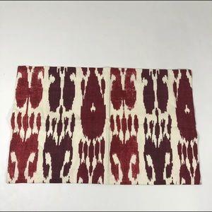 Williams Sonoma ikat lumbar pillow cover sample